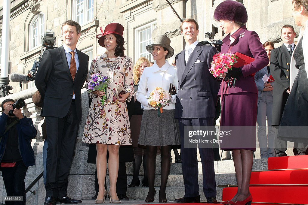 Prince Frederik, Princess Mary, Princess Marie, Prince Joachim and Princess Benedikte of Denmark attend the opening of the Folketingets parliamentary session at Christiansborg Castle on October 7, 2008 in Copenhagen, Denmark.