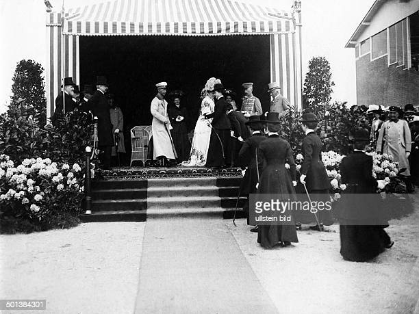 Prince Friedrich Wilhelm of Hohenzollern Eldest son of German Emperor Wilhelm II Crown Prince 1918 The Crown Prince and his wife attending the Cours...