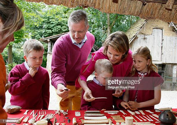 Prince Gabriel of Belgium Prince Philippe of Belgium Prince Emmanuel of Belgium Princess Mathilde of Belgium and Princess Elisabeth Belgium...