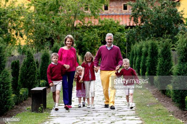 Prince Gabriel of Belgium Princess Mathilde of Belgium Princess Eleonore of Belgium Princess Elisabeth Belgium Prince Philippe of Belgium and Prince...