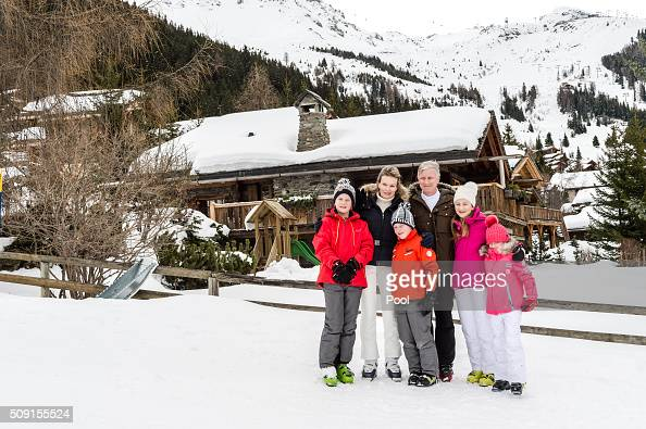 Prince Gabriel of Belgium Queen Mathilde of Belgium Prince Emmanuel of Belgium King Philippe of Belgium Princess Elisabeth Duchess of Brabant and...