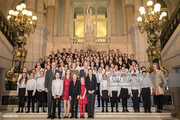 Prince Gabriel Queen Mathilde of Belgium Prince Emmanuel King Philip of Belgium Princess Eleonore Princess Elisabeth Princes Astrid and Prince Lorenz...