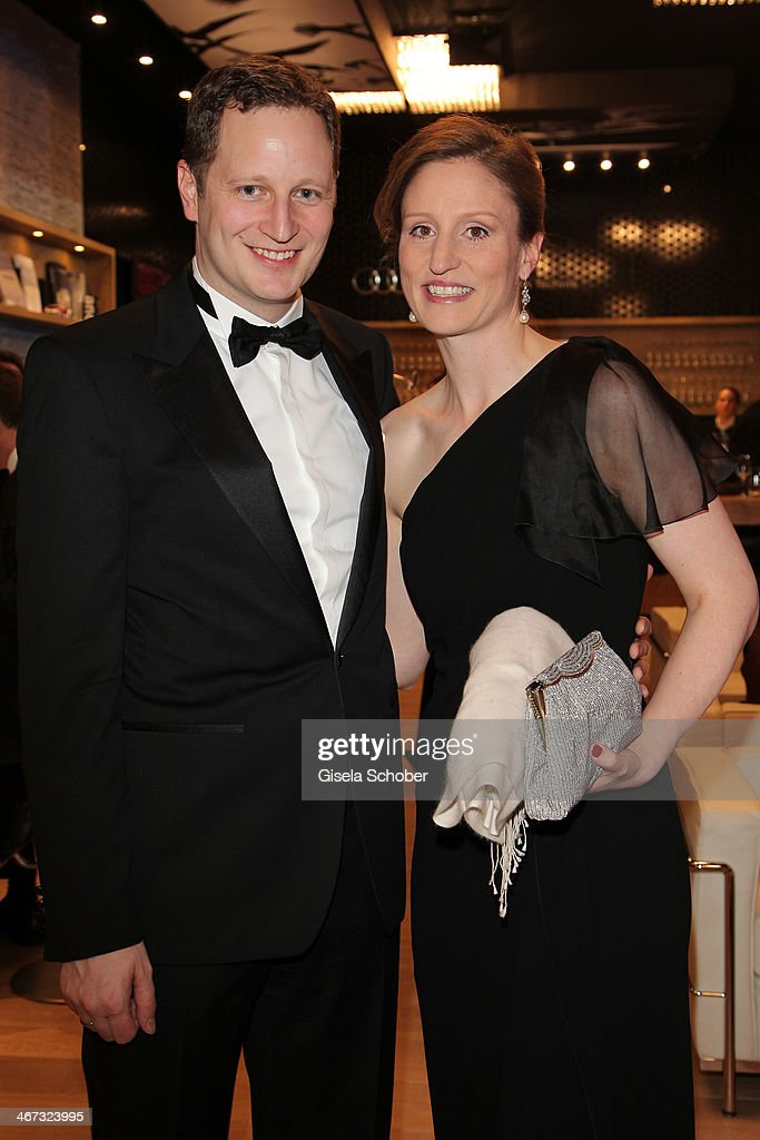 Prince Georg Friedrich Ferdinand Prussia and Princess Sophie of Prussia pose inside the AUDI Lounge at the Marlene Dietrich Platz during day 1 of the Berlinale International Film Festival on February 6, 2014 in Berlin, Germany.