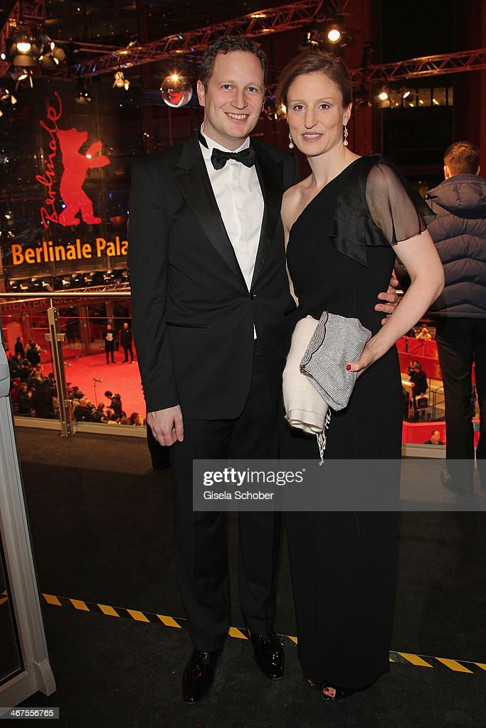 Prince Georg Friedrich Ferdinand Prussia (von Preussen) and Princess Sophie of Prussia pose inside the AUDI Lounge at the Marlene Dietrich Platz during day 1 of the Berlinale International Film Festival on February 6, 2014 in Berlin, Germany.