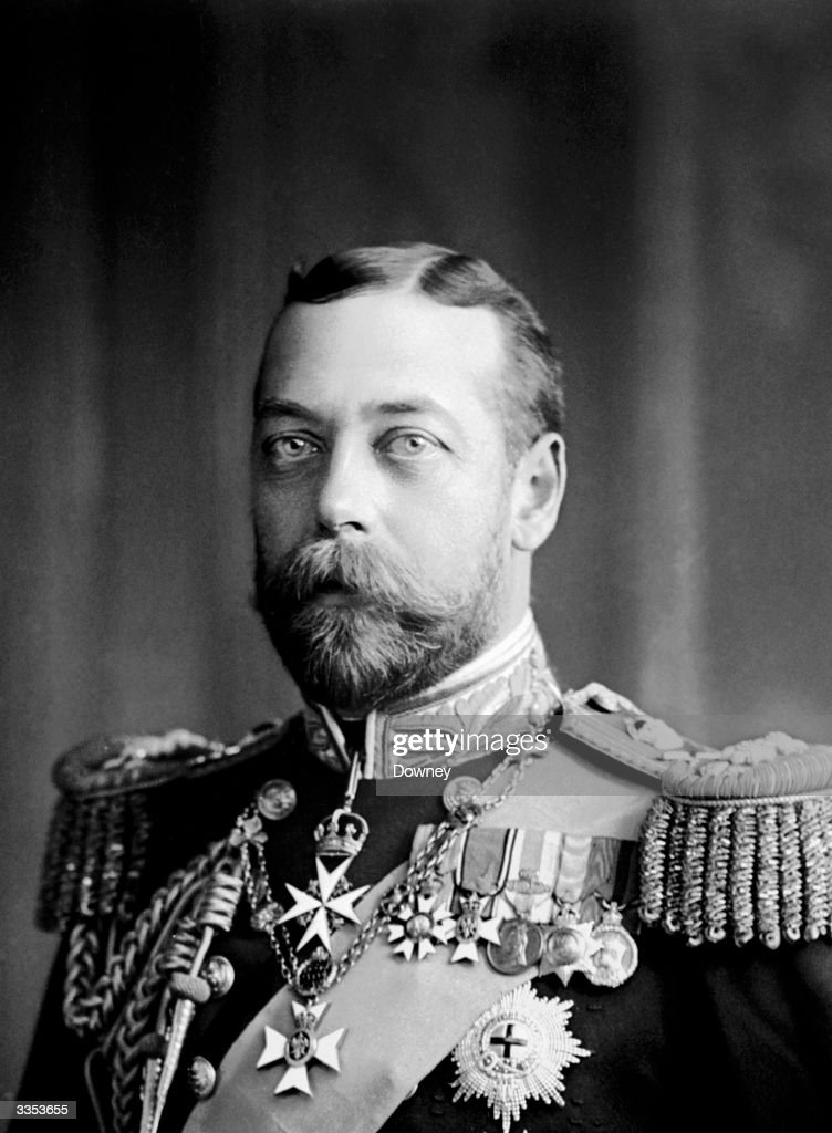 Prince George (1865 - 1936). Created the Prince of Wales in 1901, he succeeded to the throne as George V in 1910, upon the death of his father Edward VII.