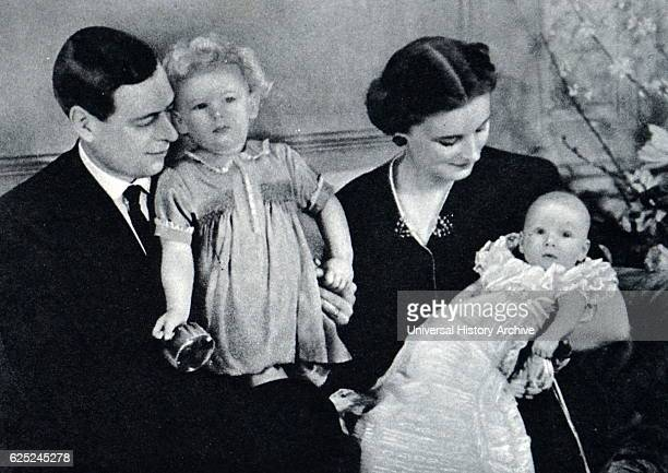 Prince George Duke of Kent with his wife Princess Marina two of their children are seen in the photograph Prince Edward Duke of Kent and Princess...