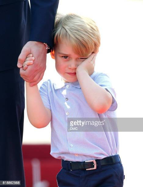 Prince George of Cambridge arrives at Berlin Tegel Airport during an official visit to Poland and Germany on July 19 2017 in Berlin Germany