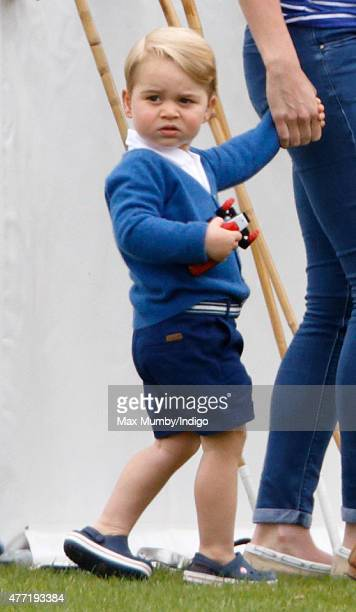 Prince George of Cambridge attends the Gigaset Charity Polo Match at the Beaufort Polo Club on June 14 2015 in Tetbury England