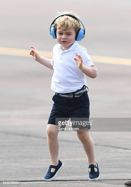 Prince George of Cambridge attends the The Royal International Air Tattoo at RAF Fairford on July 8 2016 in Fairford England