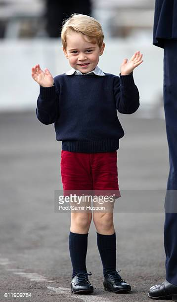 Prince George of Cambridge departs Victoria on October 1 2016 in Victoria Canada