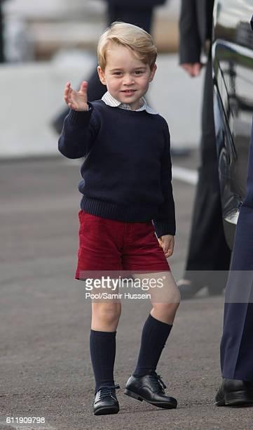 Prince George of Cambridge departs Victoria on October 1 2016 in Victoria Canada
