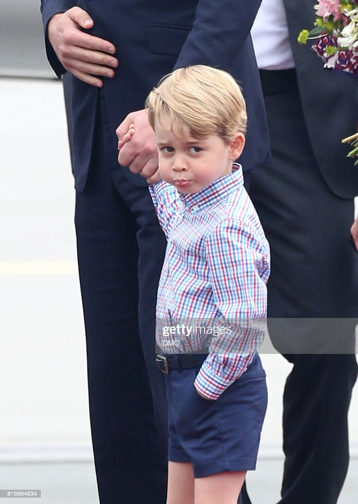 Prince George of Cambridge during an official visit to Poland and Germany on July 17, 2017 in Warsaw, Poland.
