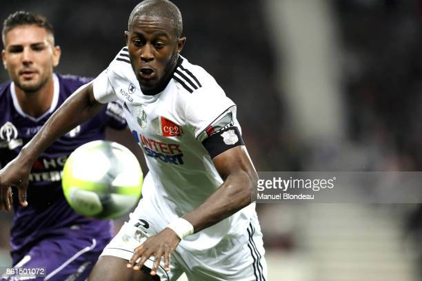 Prince Gouano of Amiens during the Ligue 1 match between Toulouse and Amiens SC at Stadium Municipal on October 14 2017 in Toulouse