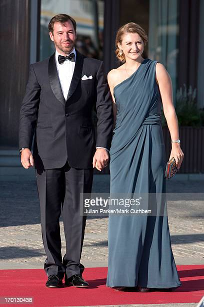 Prince Guillaume and Princess Stephanie of Luxembourg attend a private dinner on the eve of the wedding of Princess Madeleine and Christopher O'Neill...