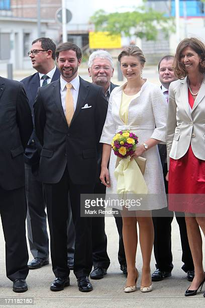 Prince Guillaume and Princess Stephanie of Luxembourg visit EschsurAlzette on June 22 2013 in Luxembourg Luxembourg