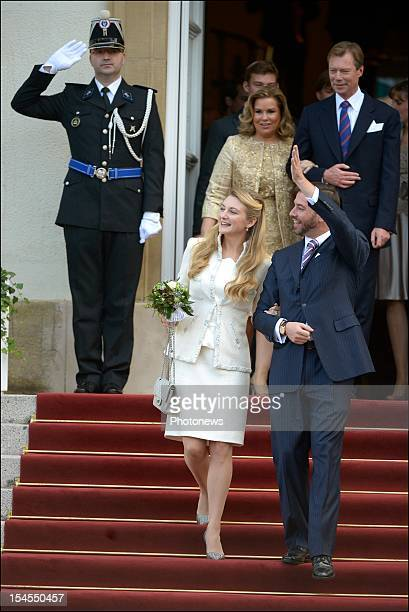 Prince Guillaume Of Luxembourg and Countess Stephanie de Lannoy during their civil wedding ceremony at the Hotel De Ville on October 19 2012 in...
