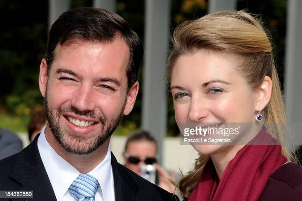 Prince Guillaume Of Luxembourg and Countess Stephanie de Lannoy attend the state reception prior to the civil ceremony for the wedding of Prince...