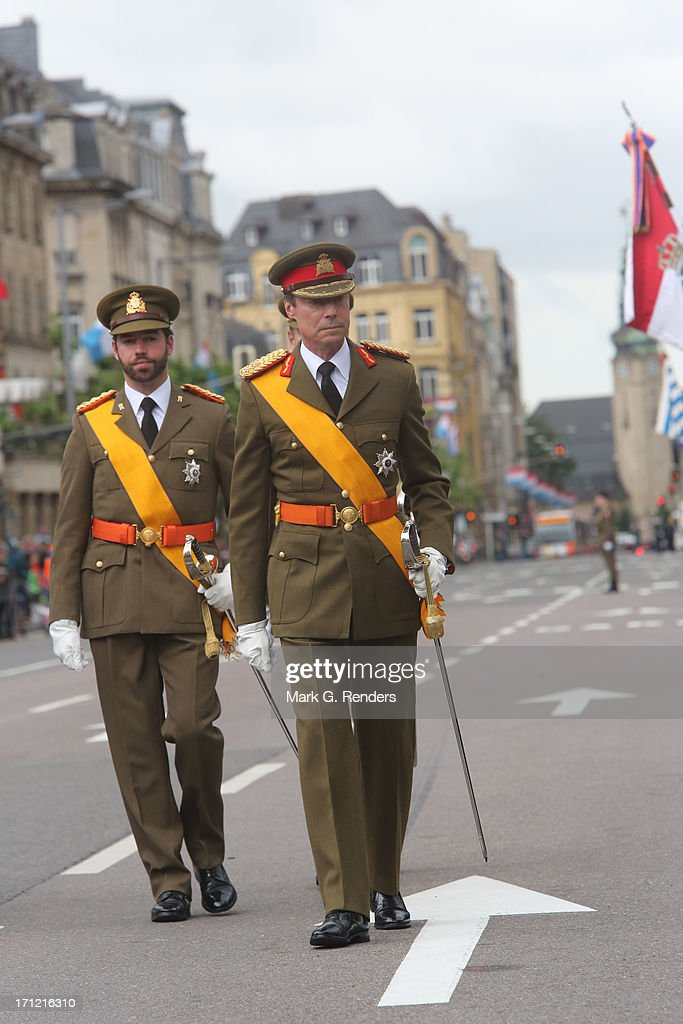 Prince Guillaume of Luxembourg and Grand Duke Henri of Luxembourg celebrate National Day on June 23, 2013 in Luxembourg, Luxembourg.