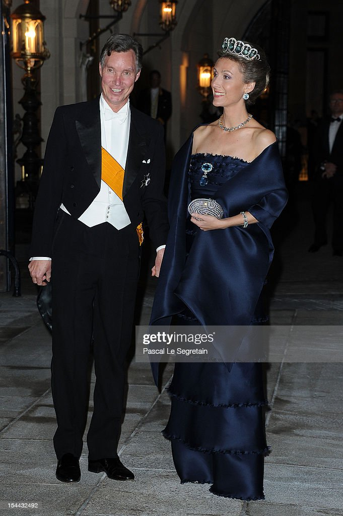 Prince Guillaume of Luxembourg and Princess Sibilla of Luxembourg attend the Gala dinner for the wedding of Prince Guillaume Of Luxembourg and Stephanie de Lannoy at the Grand-ducal Palace on October 19, 2012 in Luxembourg, Luxembourg. The 30-year-old hereditary Grand Duke of Luxembourg is the last hereditary Prince in Europe to get married, marrying his 28-year old Belgian Countess bride in a lavish 2-day ceremony.