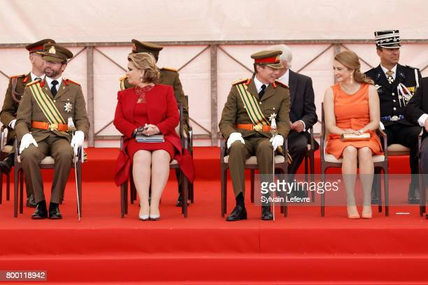 Prince Guillaume of Luxembourg Grand Duchess Maria Teresa of Luxembourg Grand Duke Henri of Luxembourg and Princess Stephanie attend National Day...