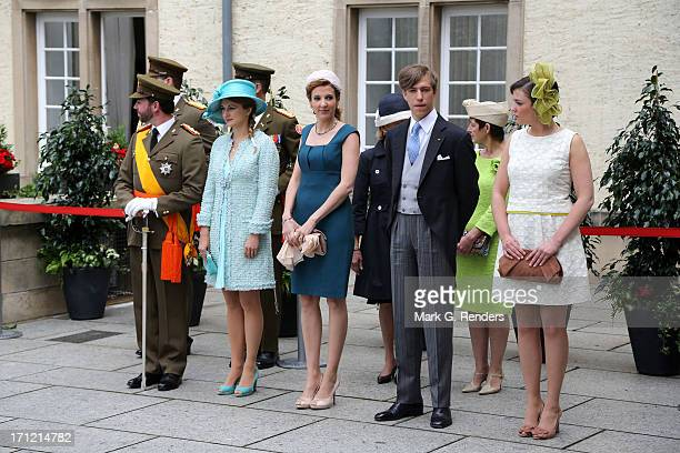 Prince Guillaume of Luxembourg Princess Stephanie of Luxembourg Princess Tessy of Luxembourg Prince Louis of Luxembourg and Princess Alexandra of...