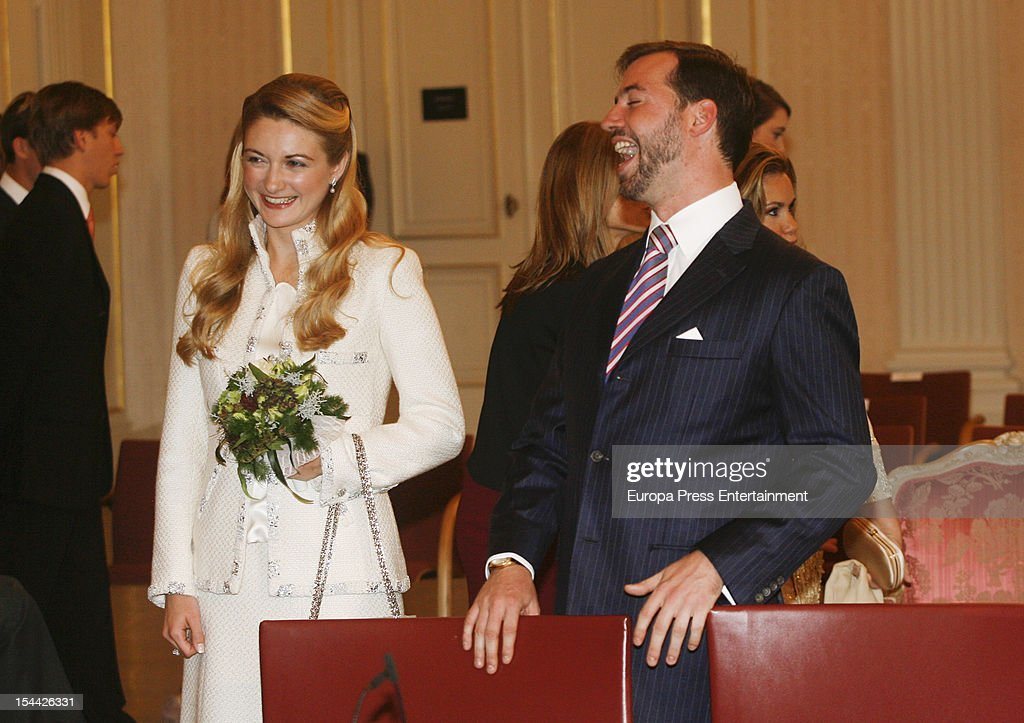 Prince Guillaume Of Luxembourg & Stephanie de Lannoy during the civil ceremony for their wedding at the Hotel De Ville on October 19, 2012 in Luxembourg, Luxembourg. The 30-year-old hereditary Grand Duke of Luxembourg is the last hereditary Prince in Europe to get married, marrying his 28-year old Belgian Countess bride in a lavish 2-day ceremony.