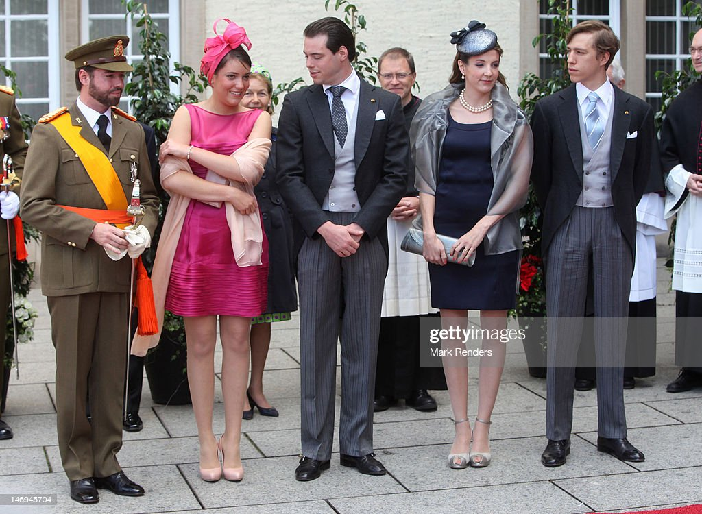 Prince Guillaume, Princess Alexandra, Prince Felix, Princess Tessy and <a gi-track='captionPersonalityLinkClicked' href=/galleries/search?phrase=Prince+Louis+of+Luxembourg&family=editorial&specificpeople=674475 ng-click='$event.stopPropagation()'>Prince Louis of Luxembourg</a> assist National Day Celebrations on June 23, 2012 in Luxembourg, Luxembourg.
