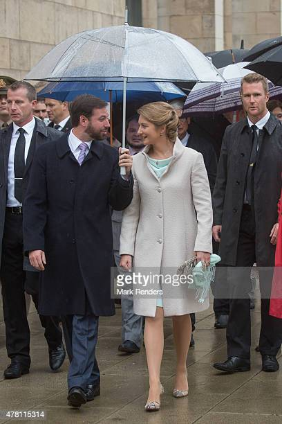 Prince Guillome and Princess Stephanie of Luxembourg visit Esch on National Day on June 22 2015 in EschsurAlzette Luxembourg