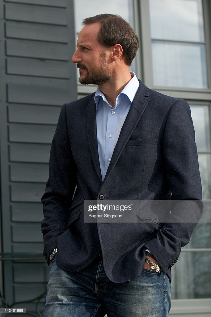 Prince Haakon of Norway attends the opening of Global Shapers at Skaugum on April 27, 2012 in Asker, Norway.