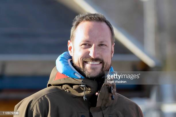 Prince Haakon of Norway attends the Slopestyle Ski Championships on March 26 2011 in Kirkerudbakken Norway