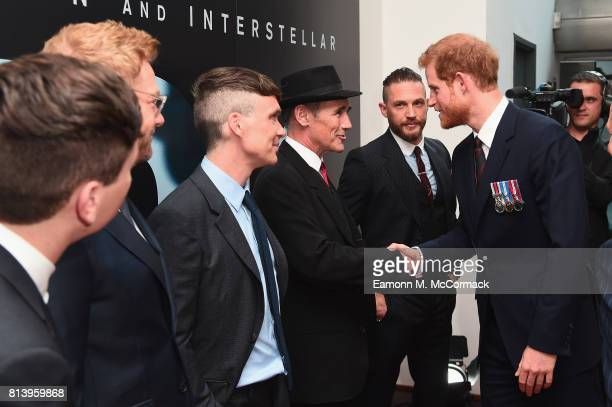 Prince Harry and actors Barry Keoghan Sir Kenneth Branagh Cillian Murphy and Mark Rylance and Tom Hardy attend the 'Dunkirk' World Premiere at Odeon...