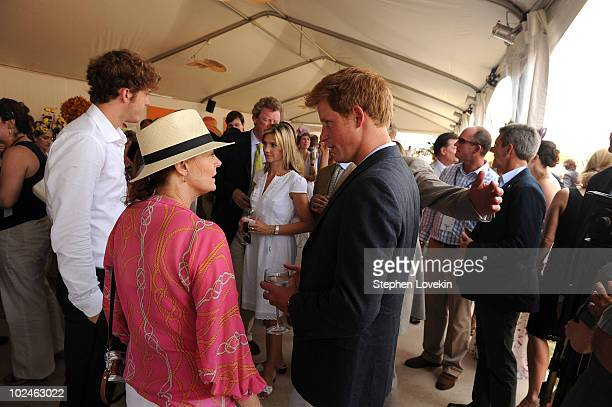 Prince Harry and actress Susan Sarandon attend the 3rd annual Veuve Clicquot Polo Classic on Governors Island on June 27 2010 in New York City