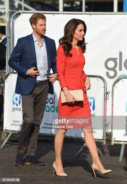 Prince Harry and Catherine Duchess of Cambridge attend the official opening of The Global Academy in support of Heads Together at The Global Academy...