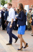 Prince Harry and Catherine Duchess of Cambridge leave Hampden Park after watching the athletics during the 20th Commonwealth Games on July 29 2014 in...