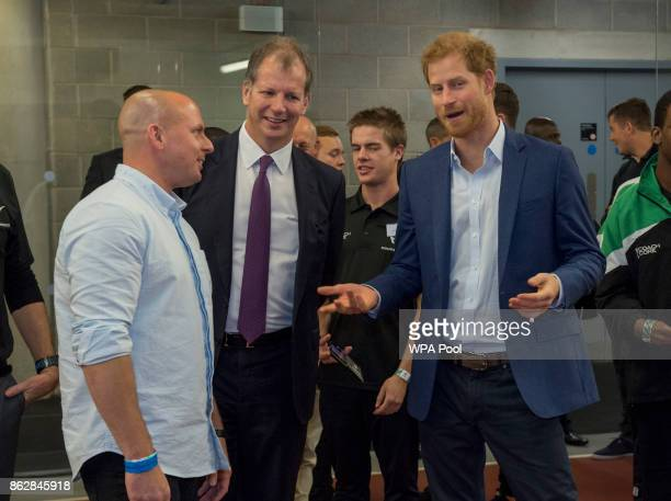 Prince Harry and Chairman of Coach Core Ed Wray attend the Coach Core graduation ceremony for more than 150 Coach Core apprentices at The London...