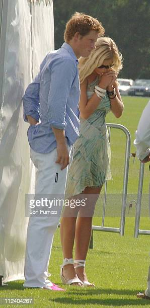 HRH Prince Harry and Chelsy Davy during Cartier International Polo July 30 2006 at Windsor in Windsor Great Britain