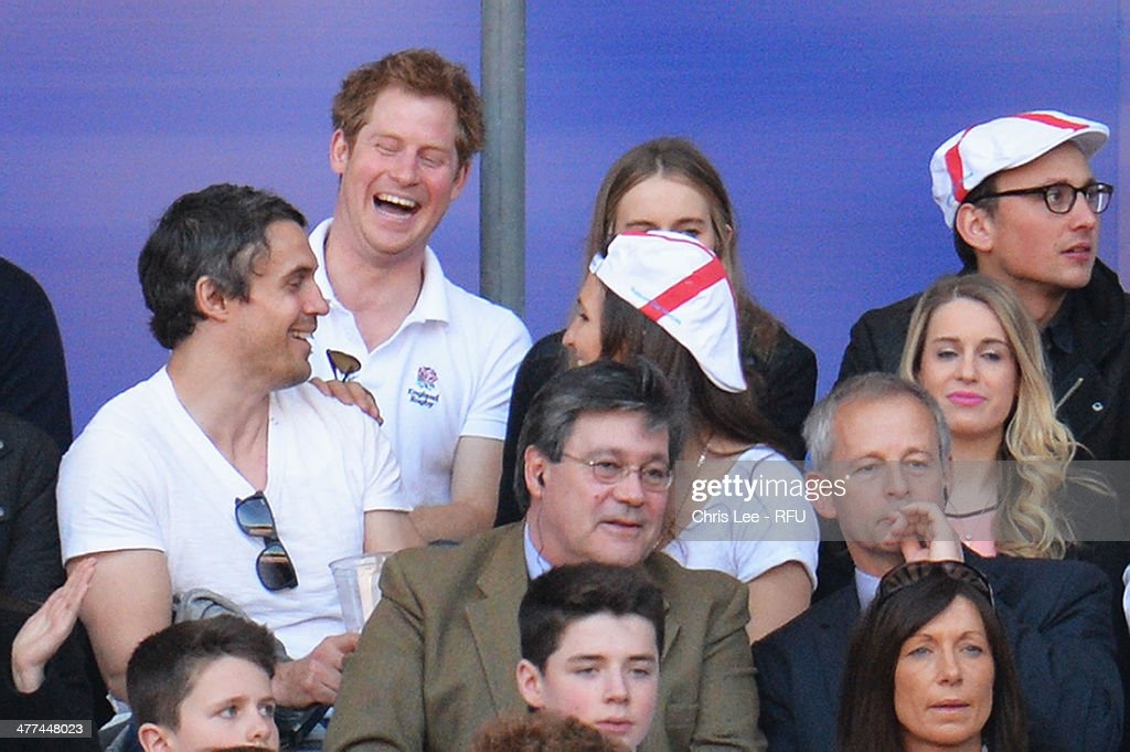 <a gi-track='captionPersonalityLinkClicked' href=/galleries/search?phrase=Prince+Harry&family=editorial&specificpeople=178173 ng-click='$event.stopPropagation()'>Prince Harry</a> (L) and <a gi-track='captionPersonalityLinkClicked' href=/galleries/search?phrase=Cressida+Bonas&family=editorial&specificpeople=8550831 ng-click='$event.stopPropagation()'>Cressida Bonas</a> (R) look on during the RBS Six Nations match between England and Wales at Twickenham Stadium on March 9, 2014 in London, England.