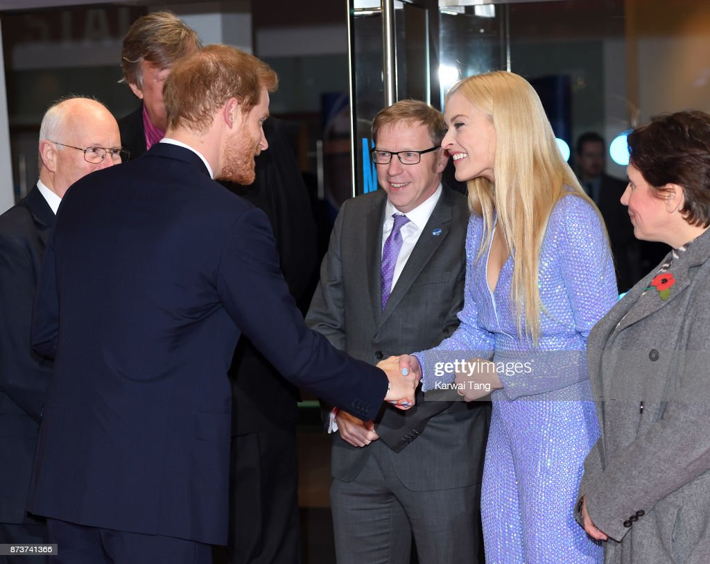 Prince Harry and Fearne Cotton attend the Virgin Money Giving Mind Media Awards at Odeon Leicester Square on November 13, 2017 in London, England.