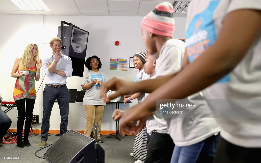<a gi-track='captionPersonalityLinkClicked' href=/galleries/search?phrase=Prince+Harry&family=editorial&specificpeople=178173 ng-click='$event.stopPropagation()'>Prince Harry</a> and <a gi-track='captionPersonalityLinkClicked' href=/galleries/search?phrase=Joss+Stone&family=editorial&specificpeople=201922 ng-click='$event.stopPropagation()'>Joss Stone</a> watch the Basotho Youth Choir, made up of six boys and six girls, aged between 7 and 19 years old, rehearse at the Brit School on June 27, 2016 in London, England. The Basotho Youth Choir will perform alongside Sentebale Ambassador <a gi-track='captionPersonalityLinkClicked' href=/galleries/search?phrase=Joss+Stone&family=editorial&specificpeople=201922 ng-click='$event.stopPropagation()'>Joss Stone</a> at tommorow's Sentebale Concert at Kensington Palace, headlined by Coldplay. The choir members have all been supported by Sentebale's Secondary School Bursaries Progamme or Care for Vulnerable Children Programme. The Bursaries Programme covers the cost of school fees, uniforms and books for some of Lesotho's most disadvantaged children.
