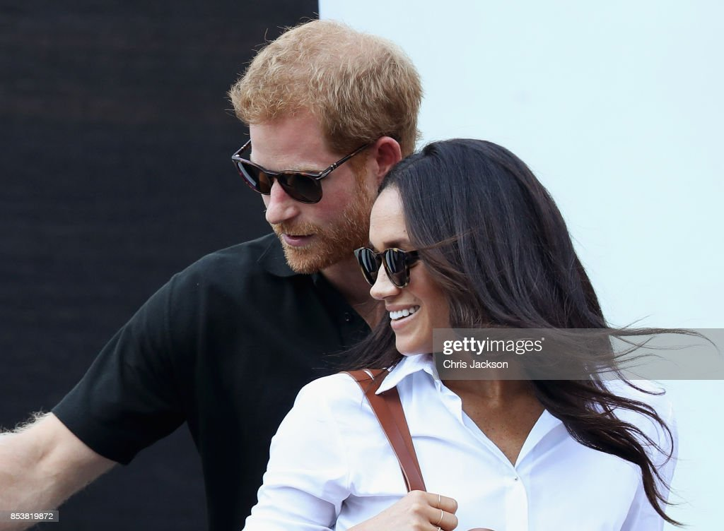 Prince Harry and Meghan Markle attend a Wheelchair Tennis match during the Invictus Games 2017 at Nathan Philips Square on September 25, 2017 in Toronto, Canada
