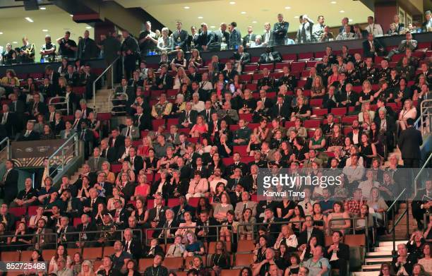 Prince Harry and Meghan Markle attend the Opening Ceremony of the Invictus Games Toronto 2017 at the Air Canada Arena on September 23 2017 in Toronto...