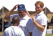 Prince Harry and Prince Seeiso during the opening of Mamahato Childrens centre for orphans and families affected by HIV and AIDS on November 26 2015...