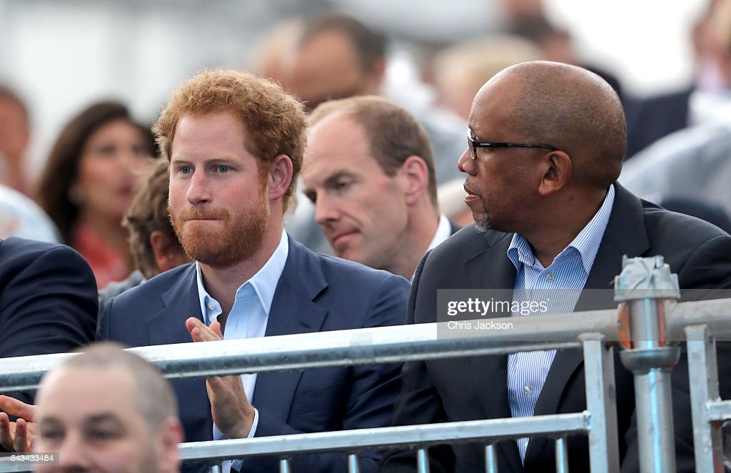 <a gi-track='captionPersonalityLinkClicked' href=/galleries/search?phrase=Prince+Harry&family=editorial&specificpeople=178173 ng-click='$event.stopPropagation()'>Prince Harry</a> and Prince Seeiso of Lesotho during the Sentebale Concert at Kensington Palace on June 28, 2016 in London, England. Sentebale was founded by <a gi-track='captionPersonalityLinkClicked' href=/galleries/search?phrase=Prince+Harry&family=editorial&specificpeople=178173 ng-click='$event.stopPropagation()'>Prince Harry</a> and Prince Seeiso of Lesotho over ten years ago. It helps the vulnerable and HIV positive children of Lesotho and Botswana.