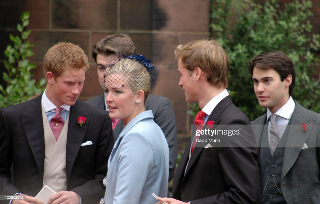<a gi-track='captionPersonalityLinkClicked' href=/galleries/search?phrase=Prince+Harry&family=editorial&specificpeople=178173 ng-click='$event.stopPropagation()'>Prince Harry</a> and <a gi-track='captionPersonalityLinkClicked' href=/galleries/search?phrase=Prince+William&family=editorial&specificpeople=178205 ng-click='$event.stopPropagation()'>Prince William</a> at the wedding of Lady Tamara Katherine Grosvenor and Edward Bernard Charles van Cutsem at Chester Cathedral on Saturday November 6, 2004
