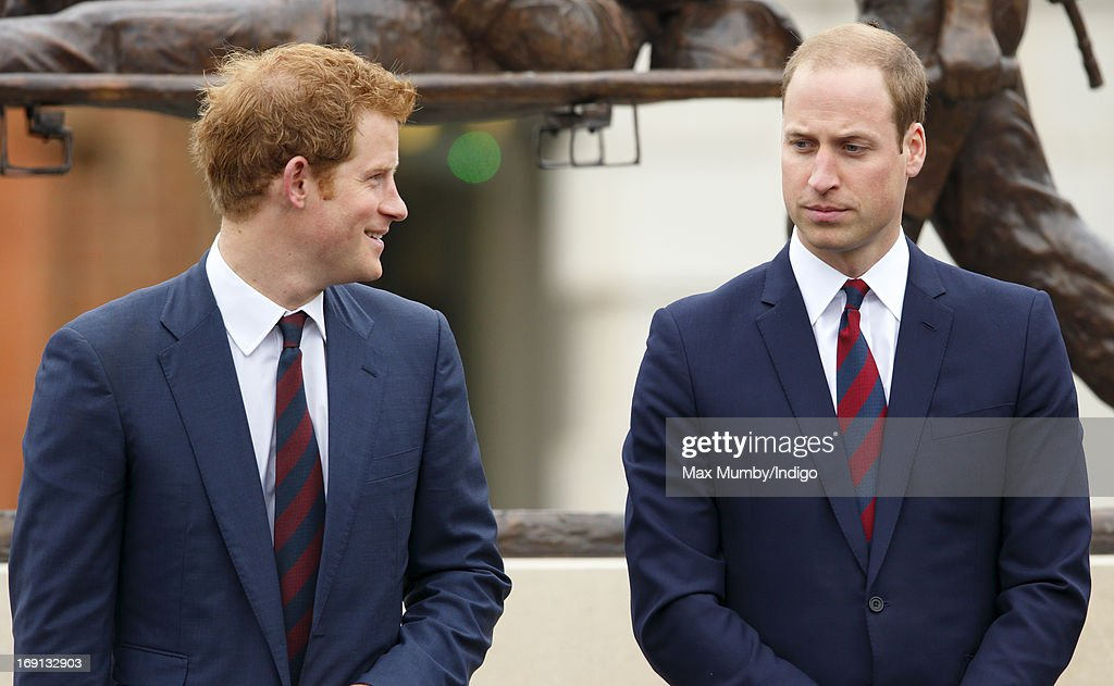 Prince Harry and Prince William, Duke of Cambridge attend the opening of the new Help for Heroes Recovery Centre at Tedworth House on May 20, 2013 in Tidworth, England. During their visit the two Royal Princes met with wounded veterans, serving personnel, and their families. Tedworth House in Wiltshire is one of four new units in England which will offer respite care and rehabilitation to injured and sick service personnel, veterans and their families.