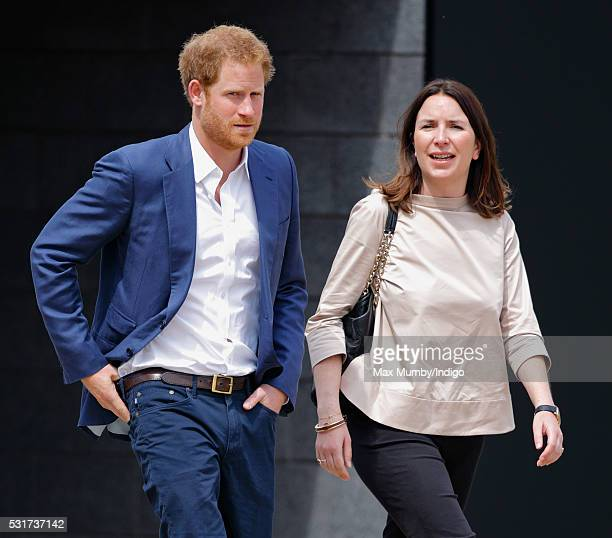 Prince Harry and Rebecca Deacon attend the launch of the Heads Together campaign to eliminate stigma on mental health at the Queen Elizabeth Olympic...