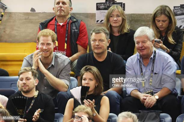 Prince Harry and Sir Keith Mills attend the Sitting Volleyball Finals during the Invictus Games 2017 at Mattamy Athletic Centre on September 27 2017...