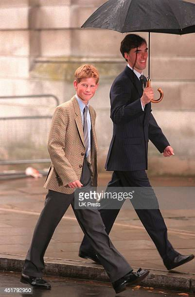 KINGDOM SEPTEMBER 2 Prince Harry arrives at Eton College with Housemaster Dr Andrew Gailey to settle in before his first day on September 2 1998 in...