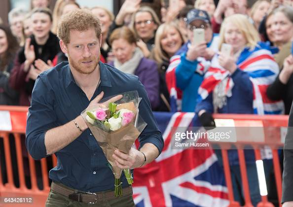 Prince Harry arrives at Gateshead Civic Centre for an engagement to discuss Walking With the Wounded is working with the local council and police on...