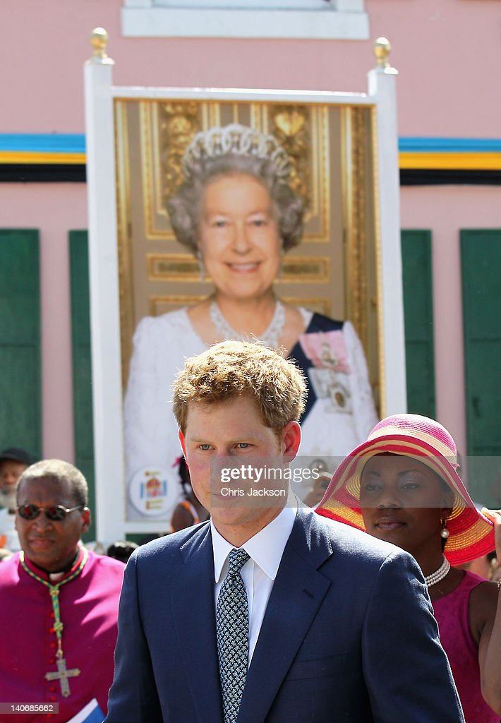 Prince Harry arrives in Rawson Square ahead of an opening of the Queen's Jubilee Exhibition on March 4, 2012 in Nassau, Bahamas. The Prince is visiting the Bahamas as part of a Diamond Jubilee tour where he will be visiting Belize, the Bahamas, Jamaica and Brazil as a representative of Queen Elizabeth II.
